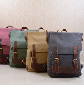 Canvas College Book Backpack - backpacks