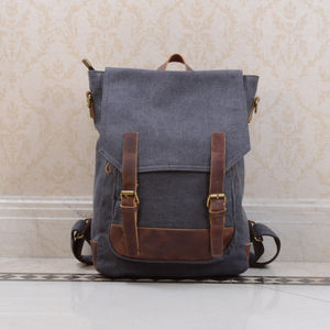 Personalised Canvas Minimalist Book Backpack - men's accessories