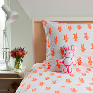 Pink Bunny Single Pillowcase