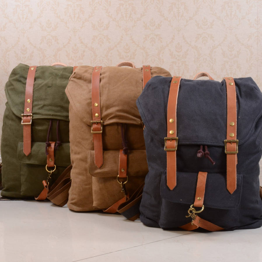 Backpacks With Leather Straps - Crazy Backpacks