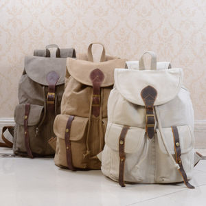 Canvas School Backpack - backpacks