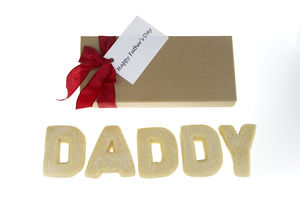 Father Personalised Shortbread Letters - shortbread