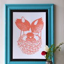 New Baby In The Nest Screen Print