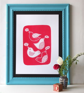 Hello Birdie Screen Print - posters & prints