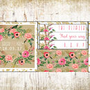 Watercolour Floral Pocket Fold Wedding Invitation