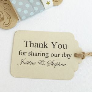 Personalised Large Wedding Favour Tags