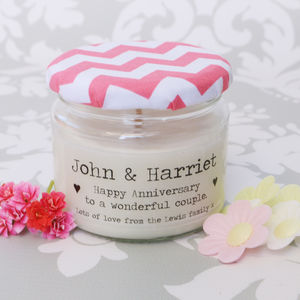 Personalised Happy Anniversary Candle