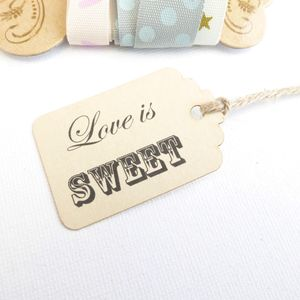 Tiny Favour Tags - ribbon & wrap