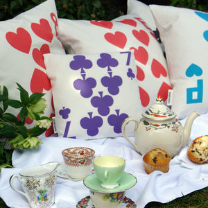 Alternative Colour Playing Card Cushion Cover - cushions