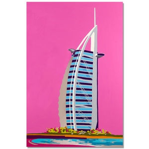 Opulence Original Aluminium Painting - architecture & buildings