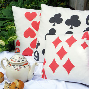 Playing Card Cushion Cover - patterned cushions