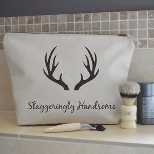 Staggeringly Handsome Wash Bag - men's grooming & toiletries