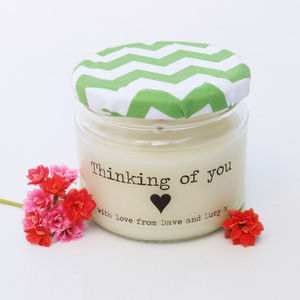 Personalised 'Thinking of you' Candle Gift