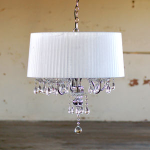 Crystal Drop Chandelier With Shade - office & study