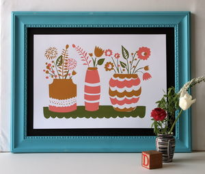 Spring Flowers Screen Print - posters & prints