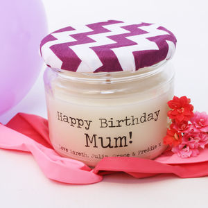 Personalised 'Happy Birthday' Candle For Mums