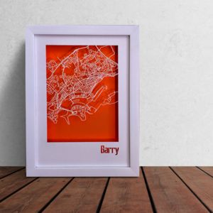Barry Wales Map Cut Out Street Map