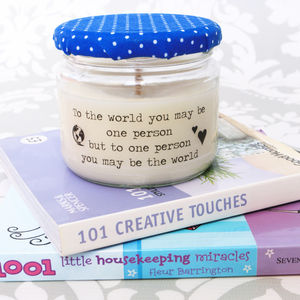 'Sentiment of Love' Soy Wax Candle - tableware