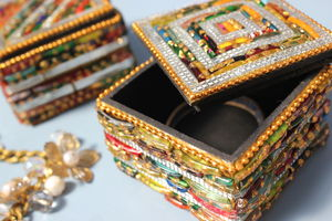 Beaded Treasure Box