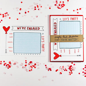 'We're Engaged!' Engagement Party Invitation - weddings