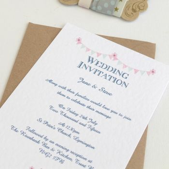 Wedding Invitations Bunting