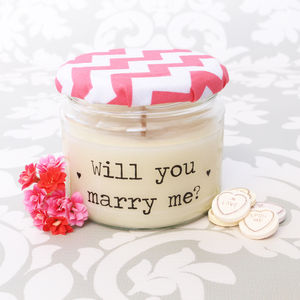 'Will You Marry Me?' Proposal Candle - proposal ideas