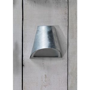 St Ives Galvanised Funnel Down Wall Light