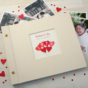 Personalised Ruby Wedding Anniversary Photo Album
