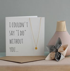 Thank You Bridal Party Gift Set - necklaces & pendants