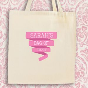 Bag Of Treats Personalised Cotton Tote Bag