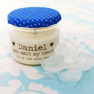 Personalised 'You Melt My Heart' Soy Candle