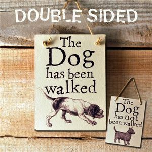 Double Sided Illustrated 'Dog's Been/Not Been Walked