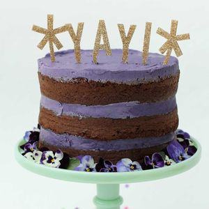 Yay Star Cake Topper - cake decoration