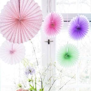 Marrakesh Pinwheel Paper Fan Decorations Set Of Six