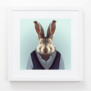 Hare Art Print - pictures & prints for children