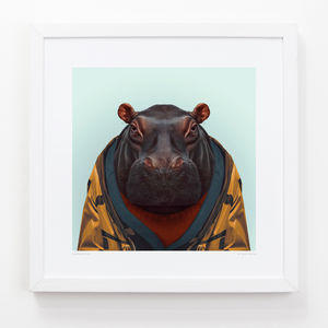 Hippo Art Print - animals & wildlife