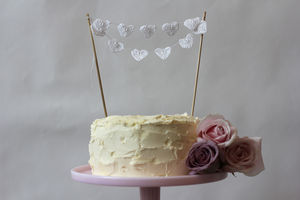 Crochet Heart Cake Topper - cake toppers & decorations
