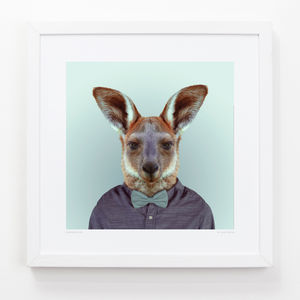 Kangaroo Art Print - contemporary art