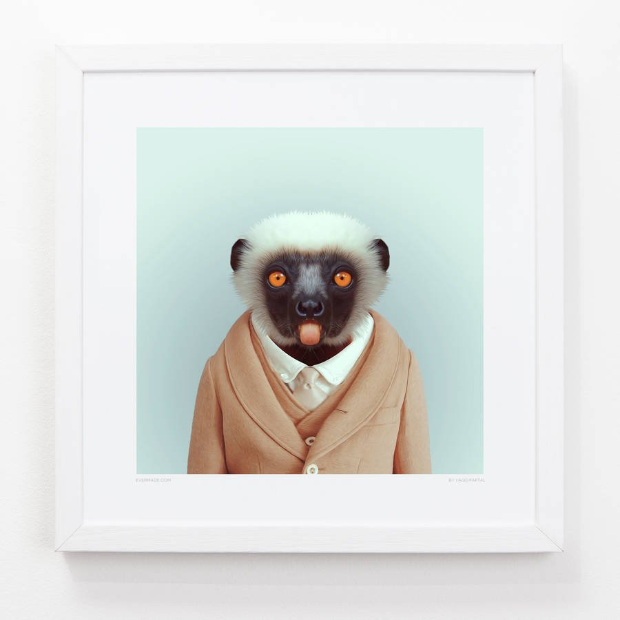 Evermade Lemur One Art Print
