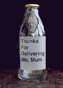 Etched Milk Bottle For Mum - gifts for mothers