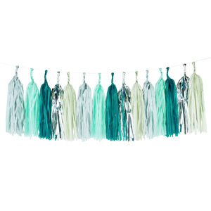 Fresh Green Glitter Tassel Garland Kit