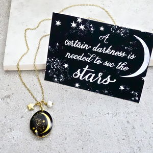 'Stars Can't Shine Without Darkness' Locket