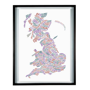 Literary Britain Map Print - art & pictures
