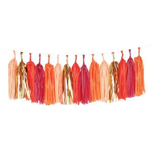 Red Glitter Tassel Garland Kit