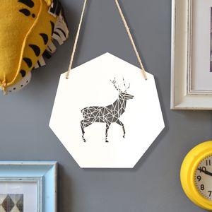 Geometric Stag Artwork - baby's room