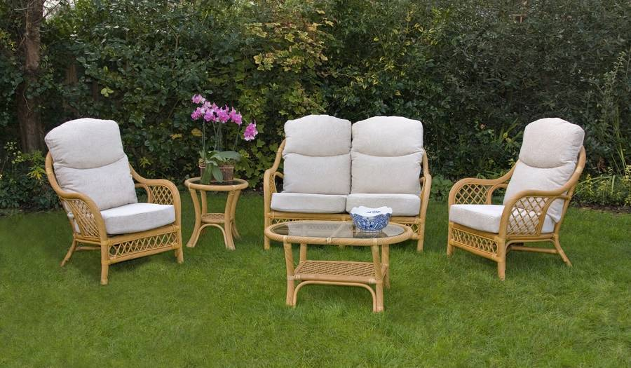 Chairworks Marbella Three Piece Suite In Cane Special Price
