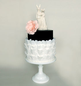 Mr Bunny And Mrs Fox Wedding Cake Topper