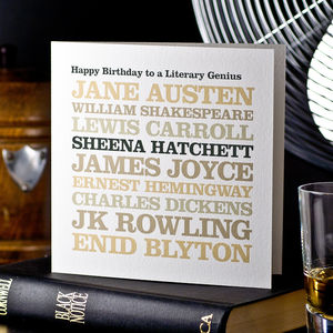 Famous Author Greeting Card - birthday cards