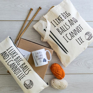 'I Like Big Balls' Knitting Gift Box