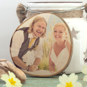 Personalised Photo Print On Wood - wedding favours